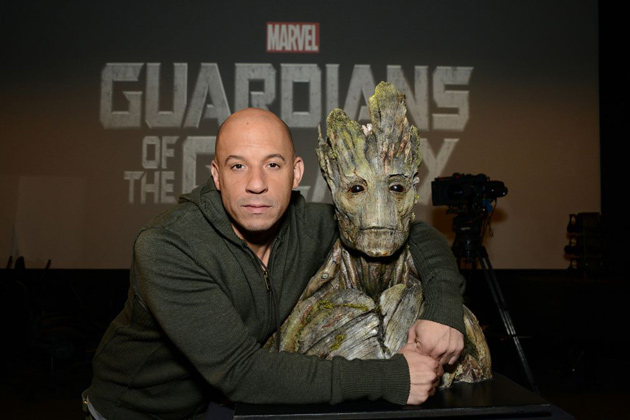 Vin Diesel and Groot, of 'Guardians of the Galaxy'