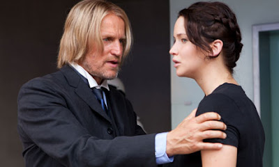 Woody Harrelson and Jennifer Lawrence