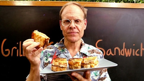 Alton Brown grilled grilled cheese