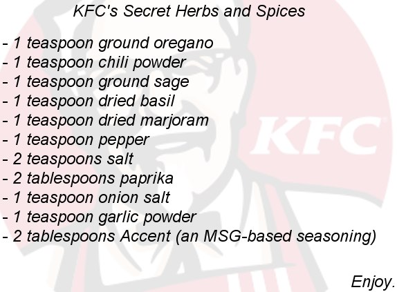 kfc secret friend chicken recipe