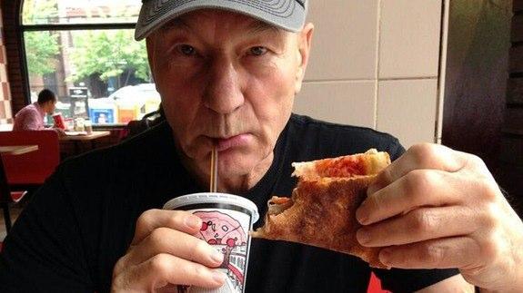 Patrick Stewart pizza slice