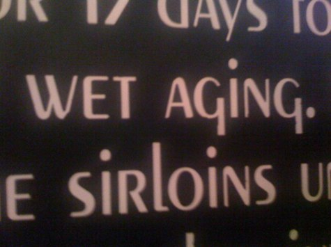Wet againg sirloins