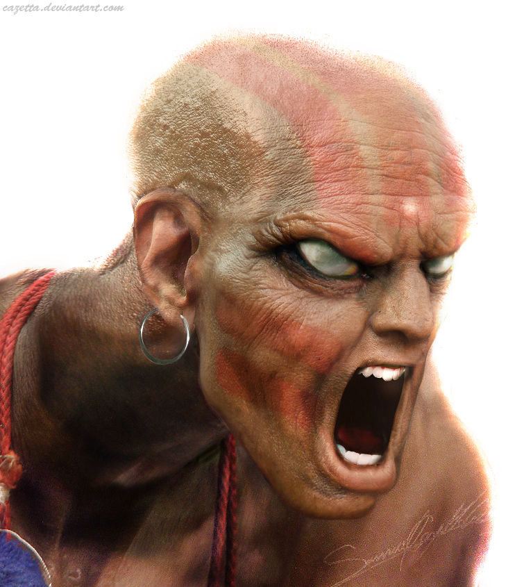 Dhalsim realistic character art