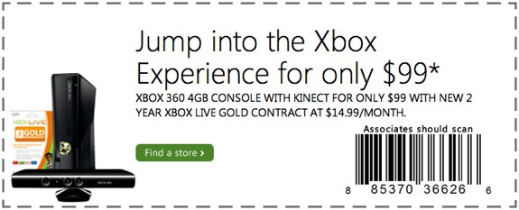 $99 xbox 360 2 year contract