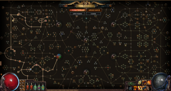 Path of exile skill grid
