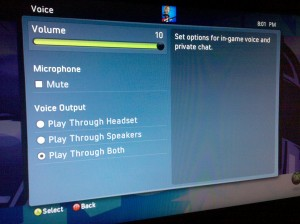 Xbox 360 Speaker Options