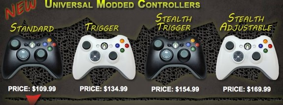 Evil Controllers Xbox 360
