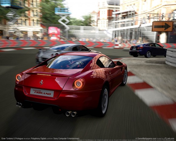 Gran Turismo 5 is causing some controversy in the beautiful Italian city of