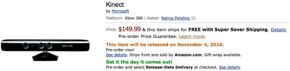 Kinect price