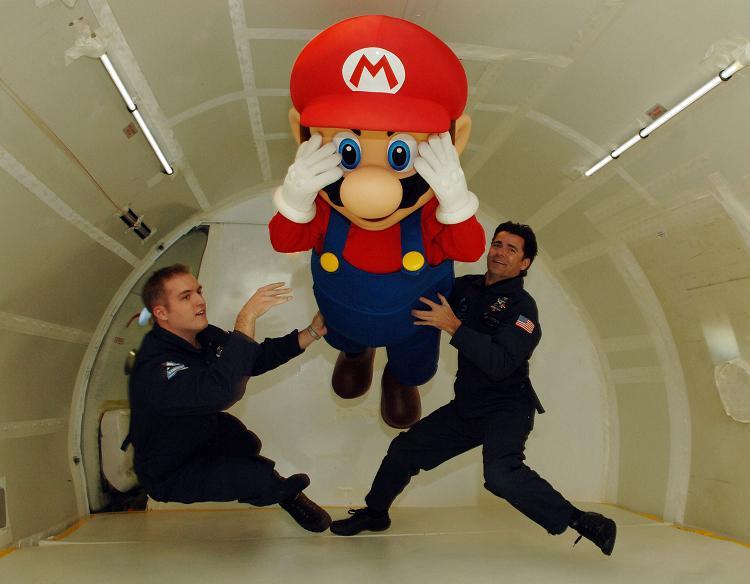 Mario in Zero G