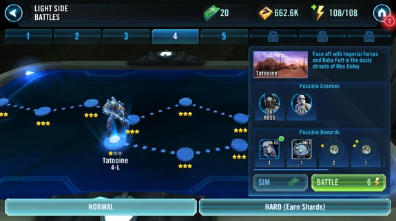 Star Wars Galaxy of Heroes iphone