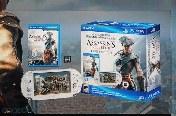 White PS Vita Assassins Creed III