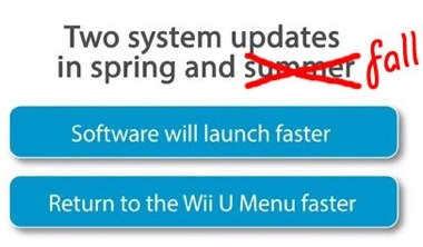 Wii U SPeed update fall