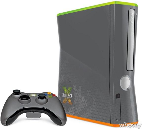 Custom 10 year xbox live xbox 360 console