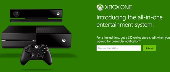 Xbox One pre-order notification microsoft store $10