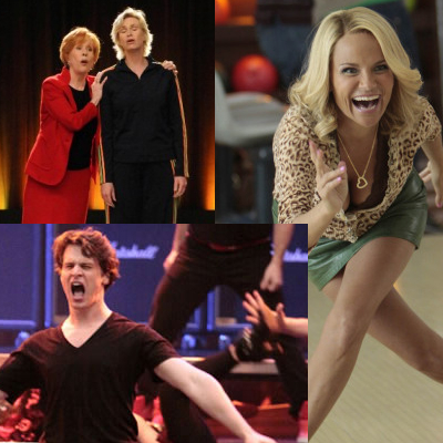 Glee - Carol Burnett, Kristin Chenoweth, Jonathan Groff