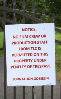 Jon Gosselin sign
