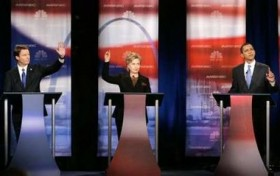 John Kerry, Barack Obama, Hillary Clinton debating