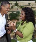 Oprah Winfrey endorsing Barack Obama