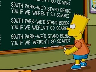 The Simpsons Show Support for South Park | TV Envy