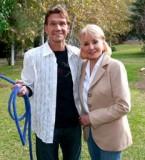 Patrick Swayze and Barbara Walters