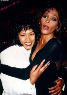 Angela Bassett and Whitney Houston
