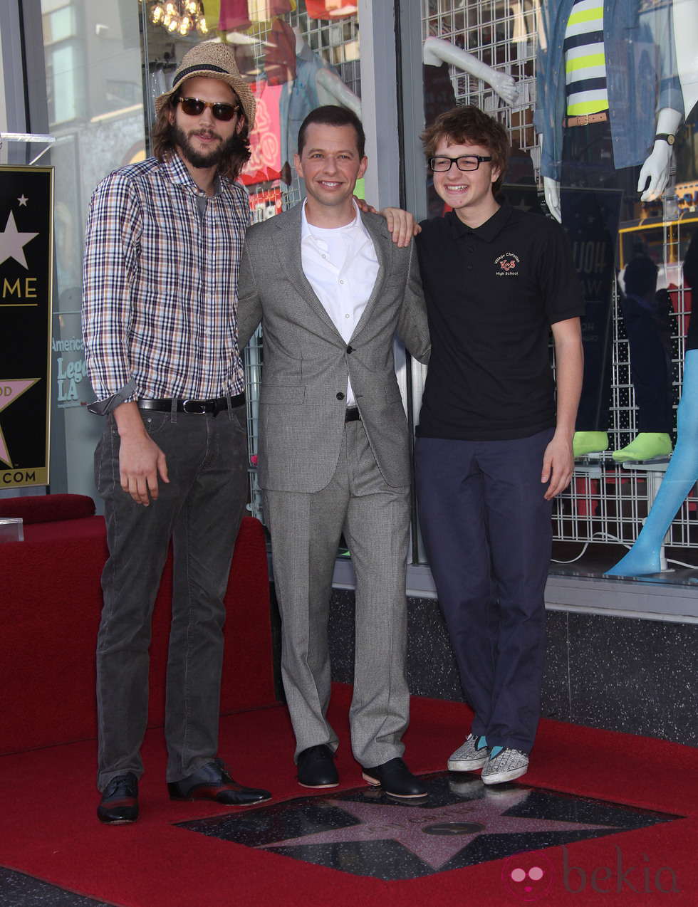 Ashton Kutcher, Jon Cryer, and Angus T. Jones