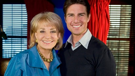 Barbara Walters and Tom Cruise