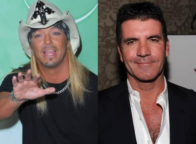 Bret Michaels and Simon Cowell