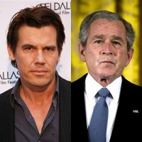 Josh Brolin and George W. Bush