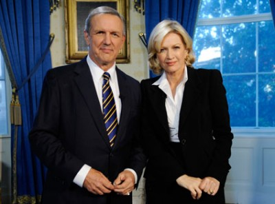 Charles Gibson and Diane Sawyer