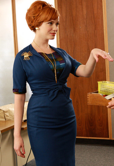 Christina Hendricks as Joan Harris in Mad Men