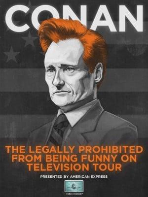 Conan O'Brien tour poster