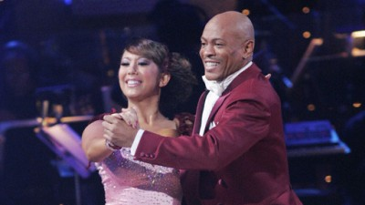Maurice Greene and Cheryl Burke on Dancing with the Stars