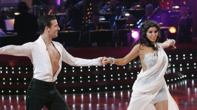 Kim Kardashian and Mark Ballas on Dancing with the Stars