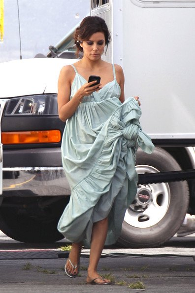 Eva Longoria on the set of Desperate Housewives