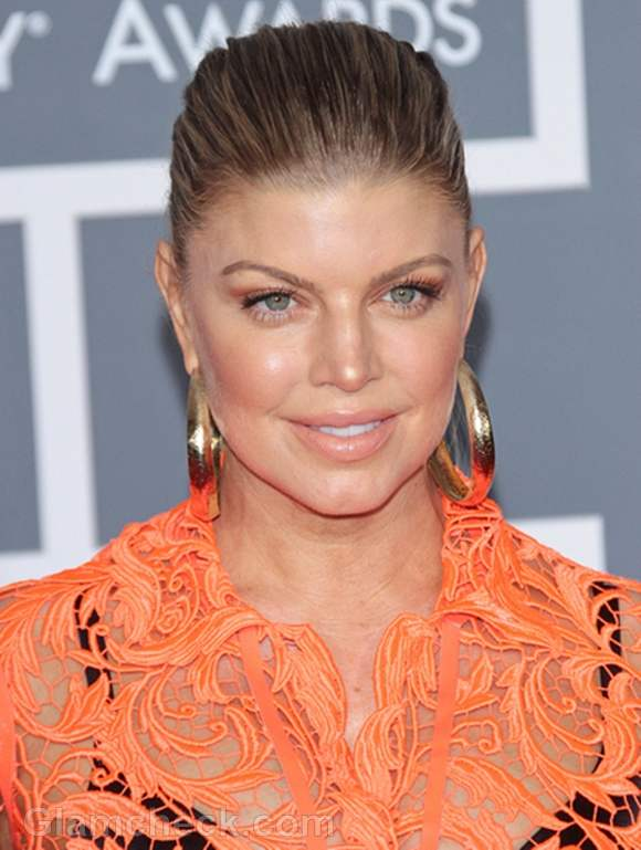 Fergie at this year's Grammys
