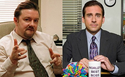 Ricky Gervais and Steve Carell in The Office