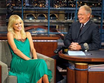 Paris Hilton on David Letterman