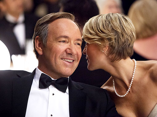 Kevin Spacey and Robin Wright in 'House of Cards'