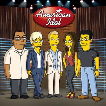 American Idol judges on The Simpsons