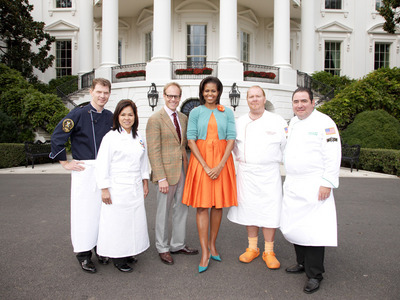 Michelle Obama on Iron Chef America