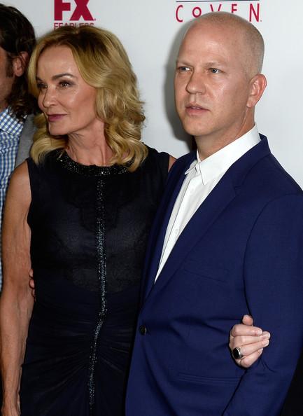 Jessica Lange and Ryan Murphy