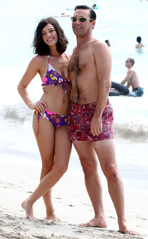 Jessica Pare and Jon Hamm