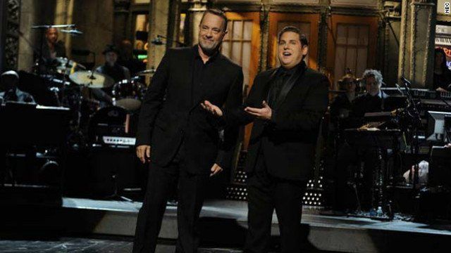 Tom Hanks and Jonah Hill on last week's SNL