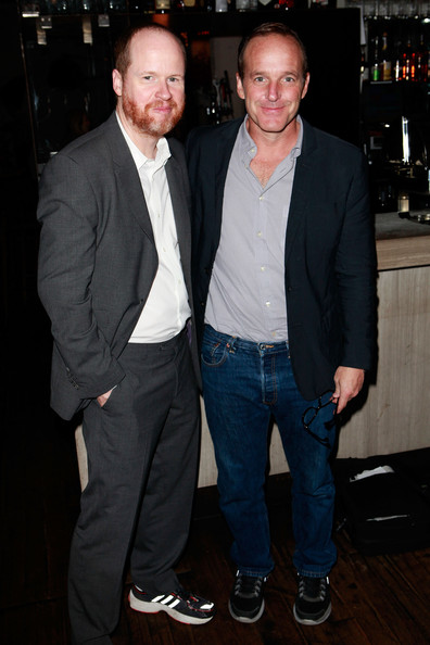 Joss Whedon and Clark Gregg