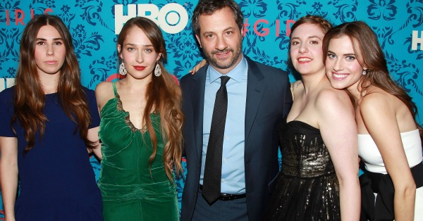 Judd Apatow with the cast of Girls