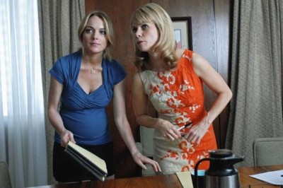 Lindsay Lohan and Cheryl Hines in Labor Pains