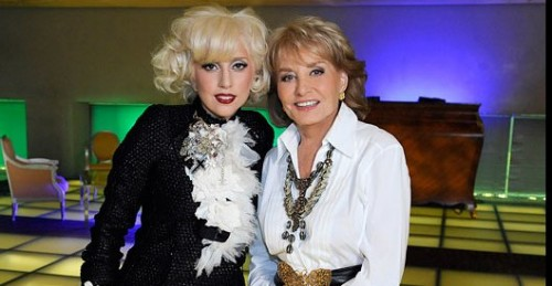 Lady Gaga and Barbara Walters