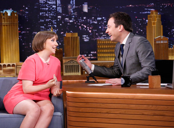 Lena Dunham and Jimmy Fallon